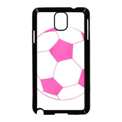 Soccer Ball Pink Samsung Galaxy Note 3 Neo Hardshell Case (Black)