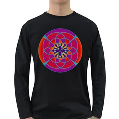 Mandala Men s Long Sleeve T-shirt (Dark Colored)