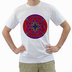 Mandala Men s T Shirt (white)
