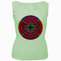 Mandala Women s Tank Top (Green)
