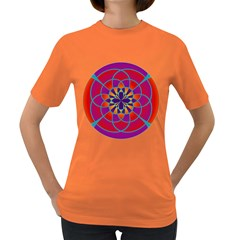 Mandala Women s T-shirt (Colored)