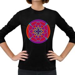 Mandala Women s Long Sleeve T-shirt (Dark Colored)