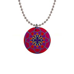 Mandala Button Necklace