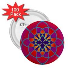 Mandala 2.25  Button (100 pack)
