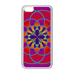 Mandala Apple iPhone 5C Seamless Case (White)