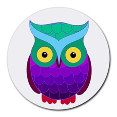 Groovy Owl 8  Mouse Pad (round)