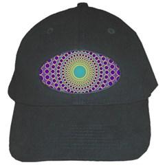 Radial Mandala Black Baseball Cap