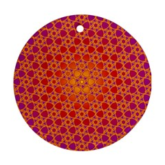Radial Flower Round Ornament (Two Sides)