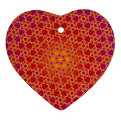 Radial Flower Heart Ornament (Two Sides)