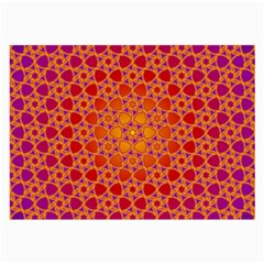 Radial Flower Glasses Cloth (Large, Two Sided)