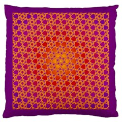 Radial Flower Large Cushion Case (two Sided)
