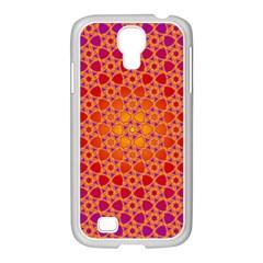 Radial Flower Samsung Galaxy S4 I9500/ I9505 Case (white)
