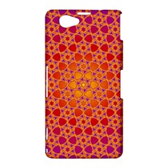 Radial Flower Sony Xperia Z1 Compact Hardshell Case