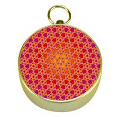 Radial Flower Gold Compass