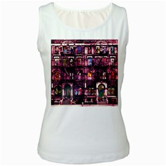 Physical Graffitied Women s Tank Top (White)