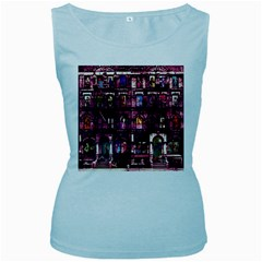 Physical Graffitied Women s Tank Top (Baby Blue)