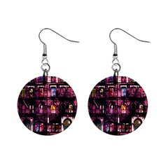 Physical Graffitied Mini Button Earrings
