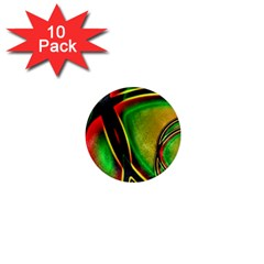 Multicolored Modern Abstract Design 1  Mini Button Magnet (10 Pack)