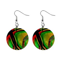 Multicolored Modern Abstract Design Mini Button Earrings