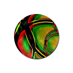 Multicolored Modern Abstract Design Drink Coasters 4 Pack (Round)