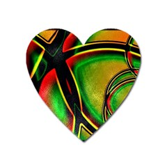 Multicolored Modern Abstract Design Magnet (heart)