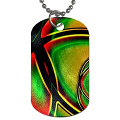 Multicolored Modern Abstract Design Dog Tag (one Sided)