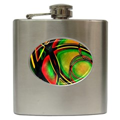 Multicolored Modern Abstract Design Hip Flask