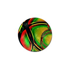 Multicolored Modern Abstract Design Golf Ball Marker 10 Pack