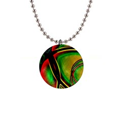 Multicolored Modern Abstract Design Button Necklace