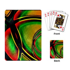 Multicolored Modern Abstract Design Playing Cards Single Design