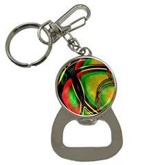 Multicolored Modern Abstract Design Bottle Opener Key Chain