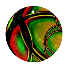 Multicolored Modern Abstract Design Round Ornament (Two Sides)