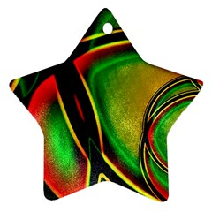 Multicolored Modern Abstract Design Star Ornament (Two Sides)