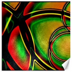 Multicolored Modern Abstract Design Canvas 12  X 12  (unframed)