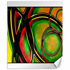 Multicolored Modern Abstract Design Canvas 16  x 20  (Unframed)