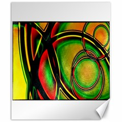 Multicolored Modern Abstract Design Canvas 20  x 24  (Unframed)