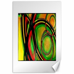 Multicolored Modern Abstract Design Canvas 20  x 30  (Unframed)