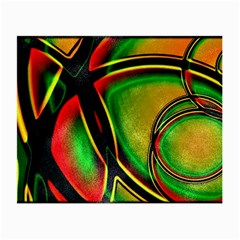 Multicolored Modern Abstract Design Glasses Cloth (Small, Two Sided)
