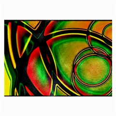 Multicolored Modern Abstract Design Glasses Cloth (Large, Two Sided)
