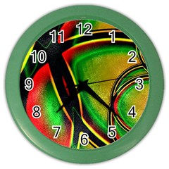 Multicolored Modern Abstract Design Wall Clock (Color)