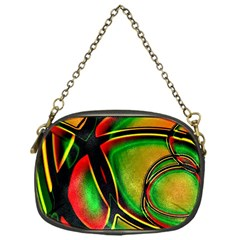 Multicolored Modern Abstract Design Chain Purse (one Side)