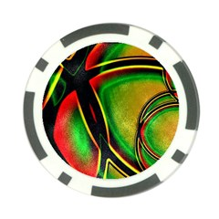 Multicolored Modern Abstract Design Poker Chip (10 Pack)