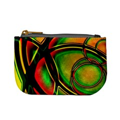 Multicolored Modern Abstract Design Coin Change Purse