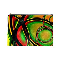 Multicolored Modern Abstract Design Cosmetic Bag (large)