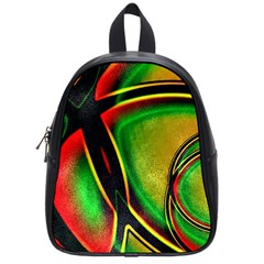 Multicolored Modern Abstract Design School Bag (Small)