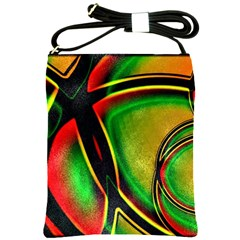 Multicolored Modern Abstract Design Shoulder Sling Bag