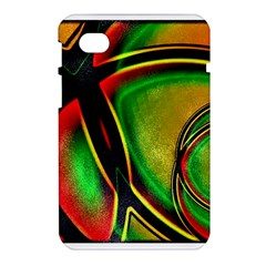 Multicolored Modern Abstract Design Samsung Galaxy Tab 7  P1000 Hardshell Case