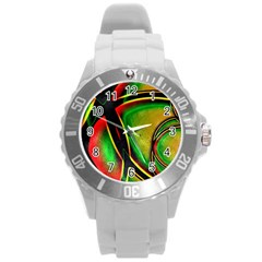 Multicolored Modern Abstract Design Plastic Sport Watch (large)
