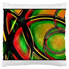 Multicolored Modern Abstract Design Large Cushion Case (Single Sided)