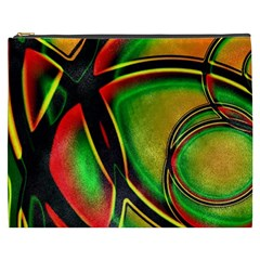 Multicolored Modern Abstract Design Cosmetic Bag (XXXL)